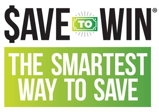 Save to Win logo and tagline