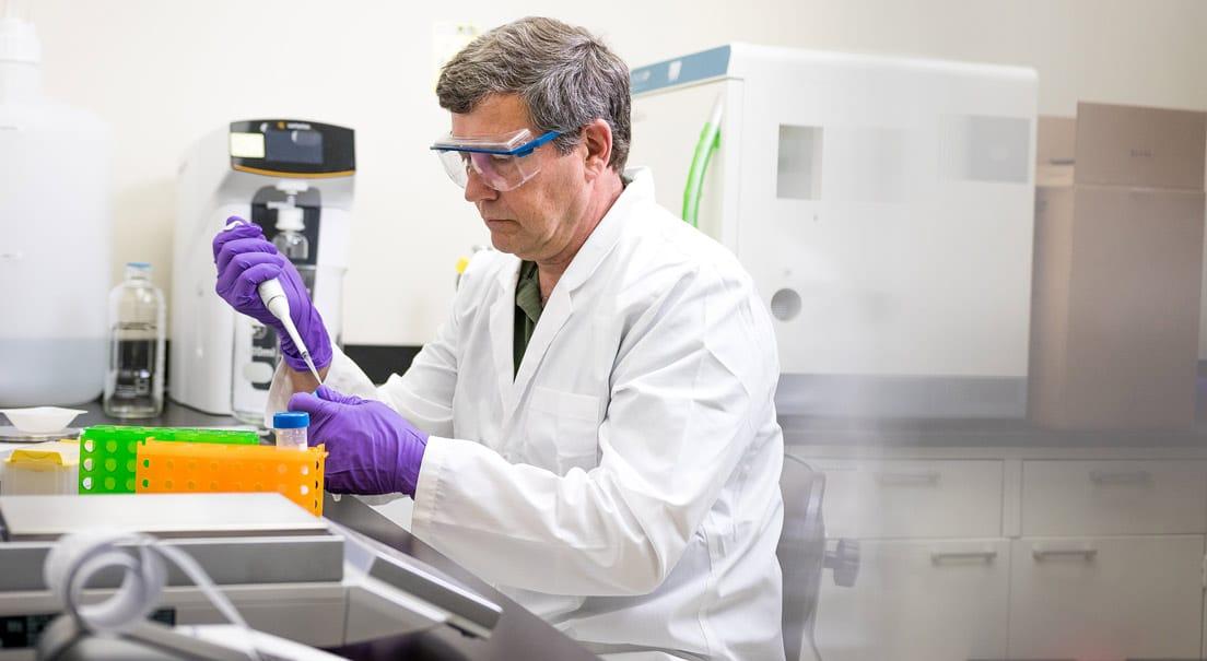 Photo of Labdoor scientist testing a supplement