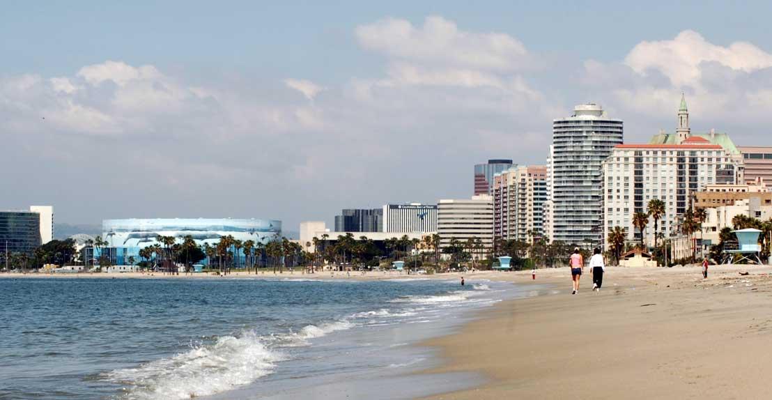 Long Beach Ocean and Skyline