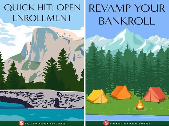 Screenshot of Stacking Benjamins course covers