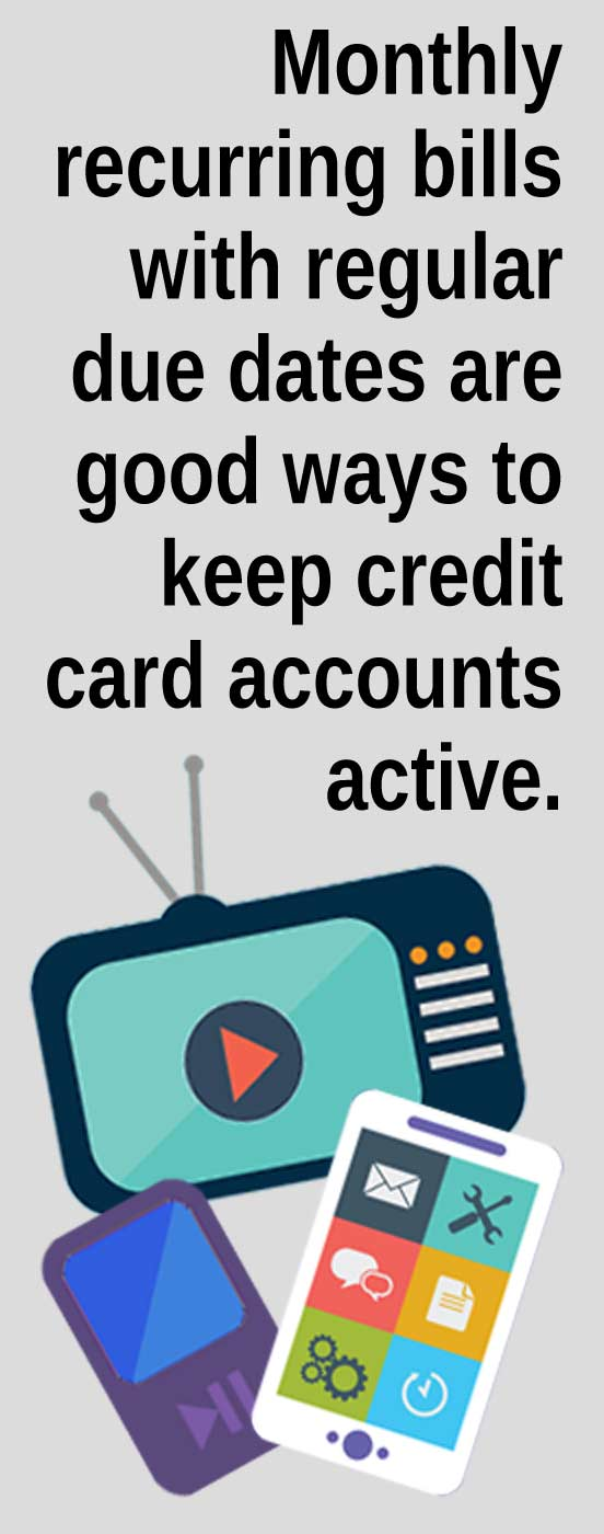 Keep a Credit Card Account Active