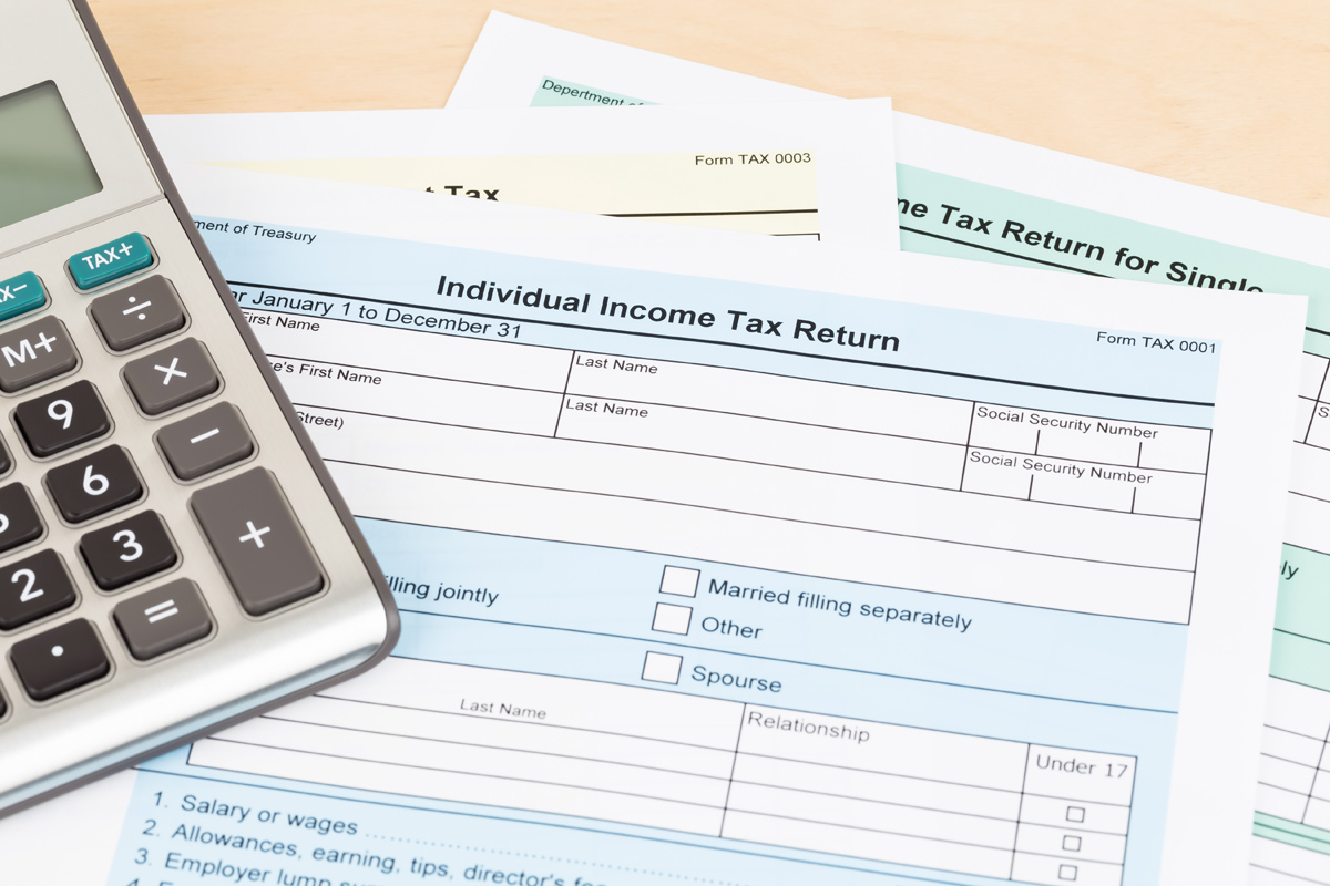 Individual Income Tax Return Photo