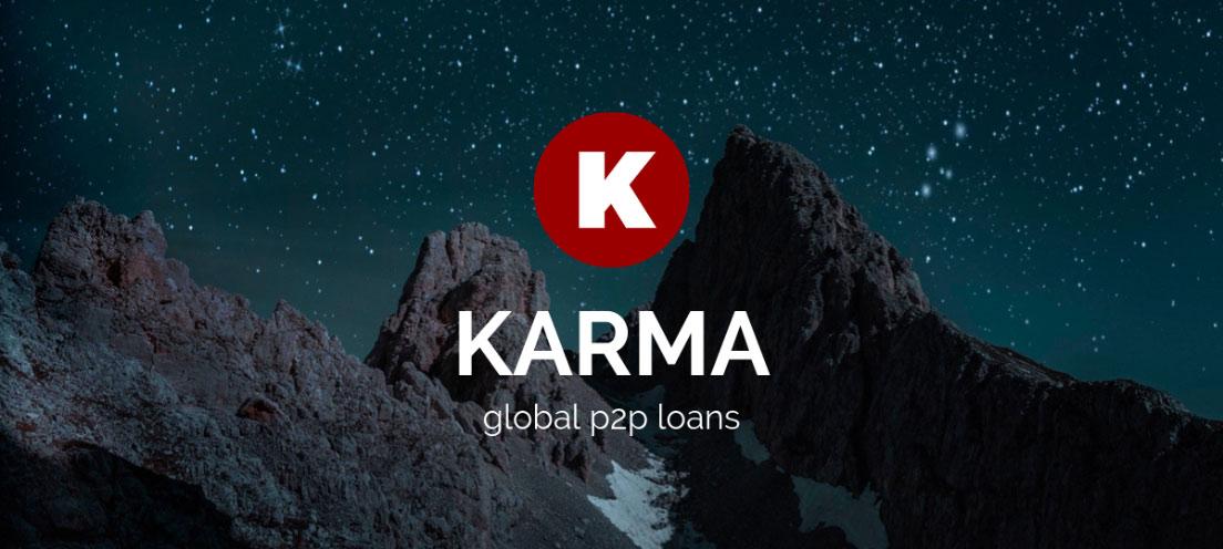 Karma logo and tagline banner