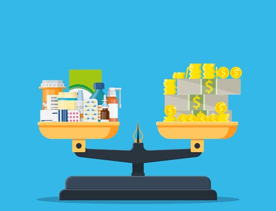 Addictive Substances and Money Balanced on Scale