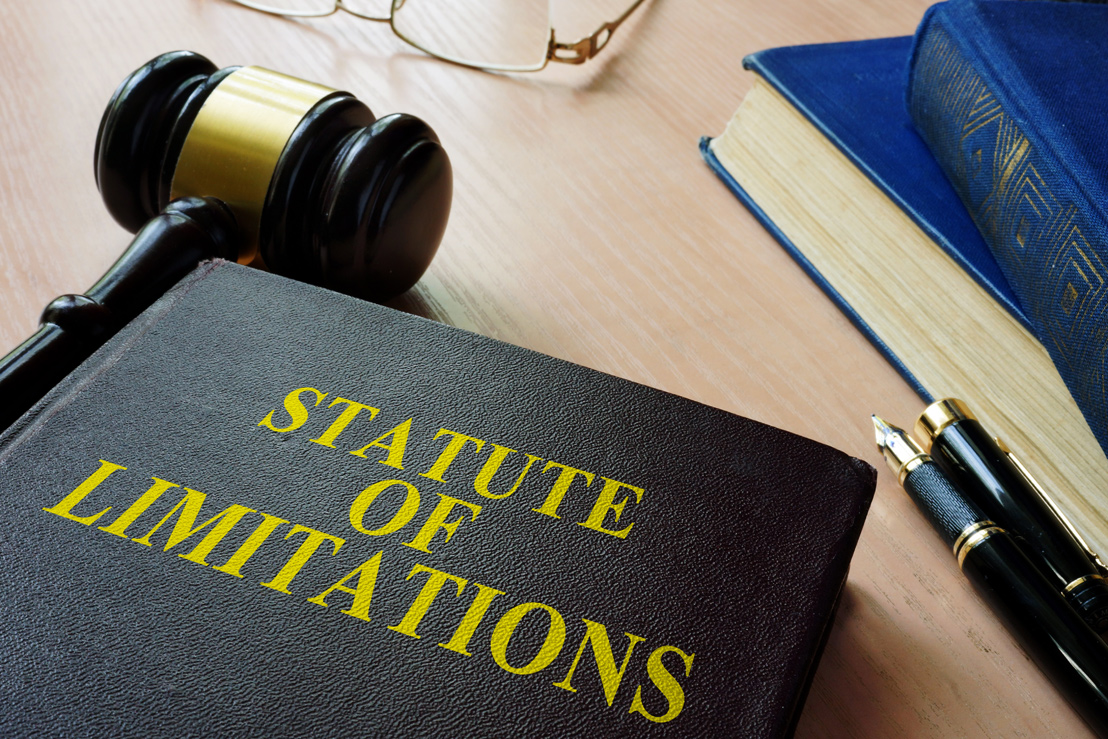 Stock photo of a statute of limitations book
