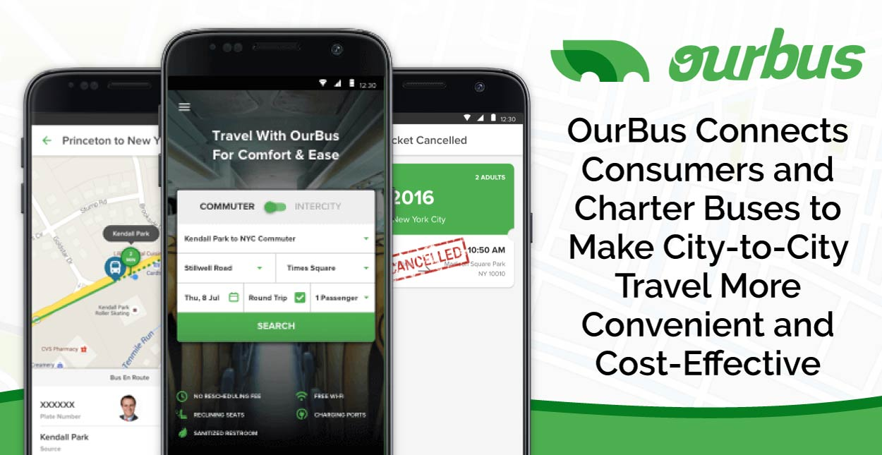 OurBus Connects Consumers and Charter Buses to Make City-to-City Travel More Convenient and Cost-Effective