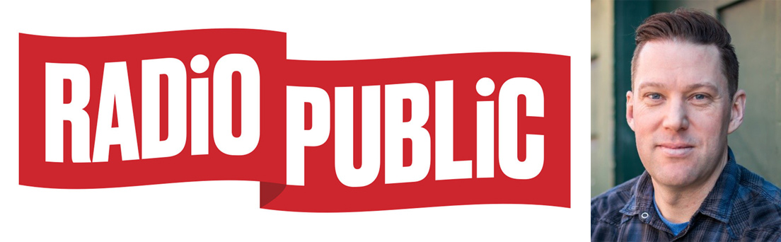 RadioPublic logo and photo of Matt MacDonald