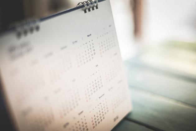Stock Photo of a Calendar