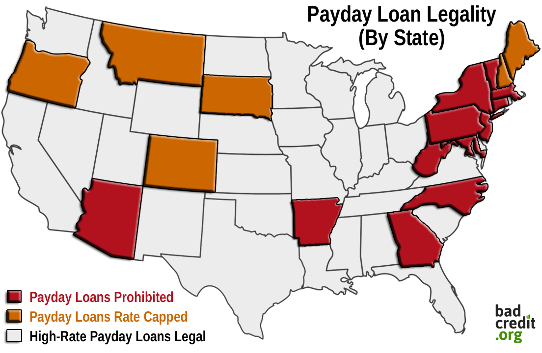 Payday Loan Legality By State