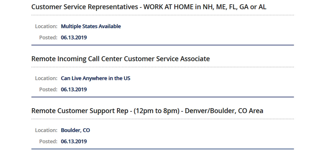 Screenshot of job listing on VirtualAssistants.com