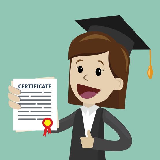 Certificate Graduate Graphic