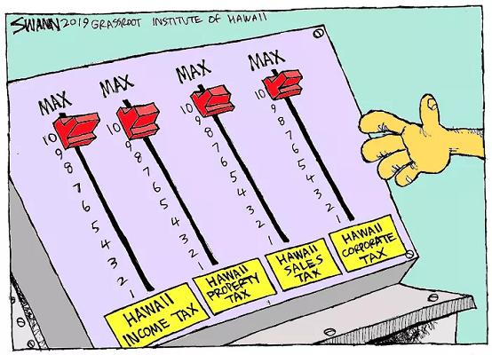 Hawaii Tax Reduction Cartoon