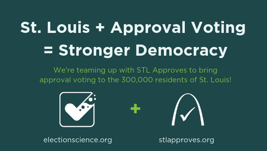 The Center for Election Science St. Louis banner ad