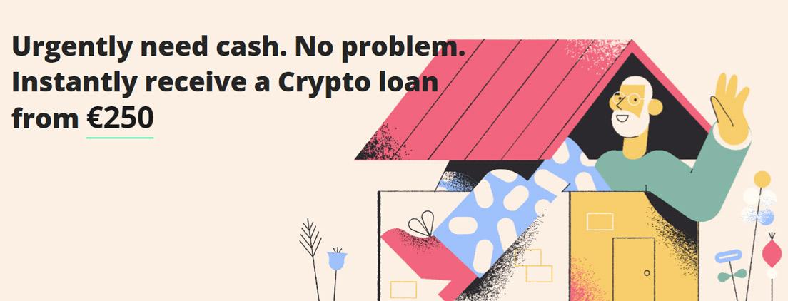 Screenshot of Nebeus loan banner