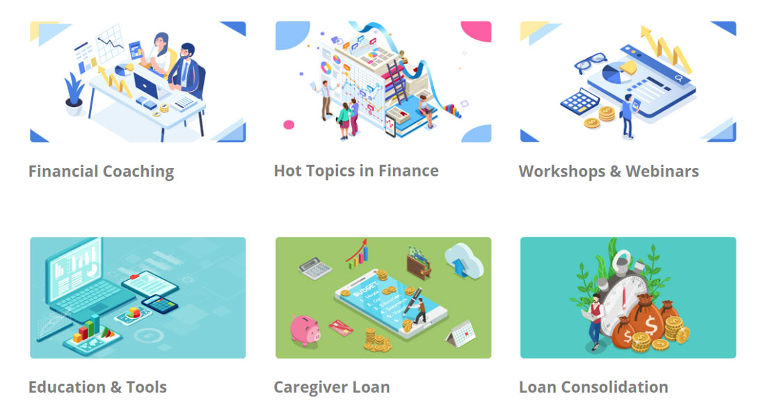 Screenshot of Providence FCU educational resources