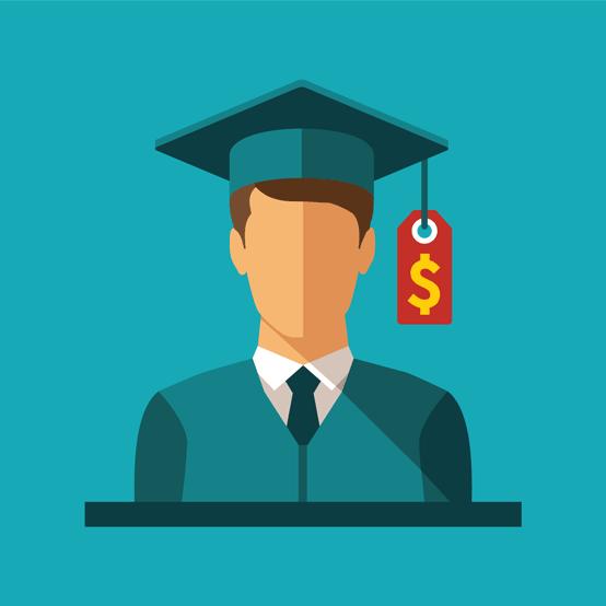 College Graduate and Price Tag on Cap