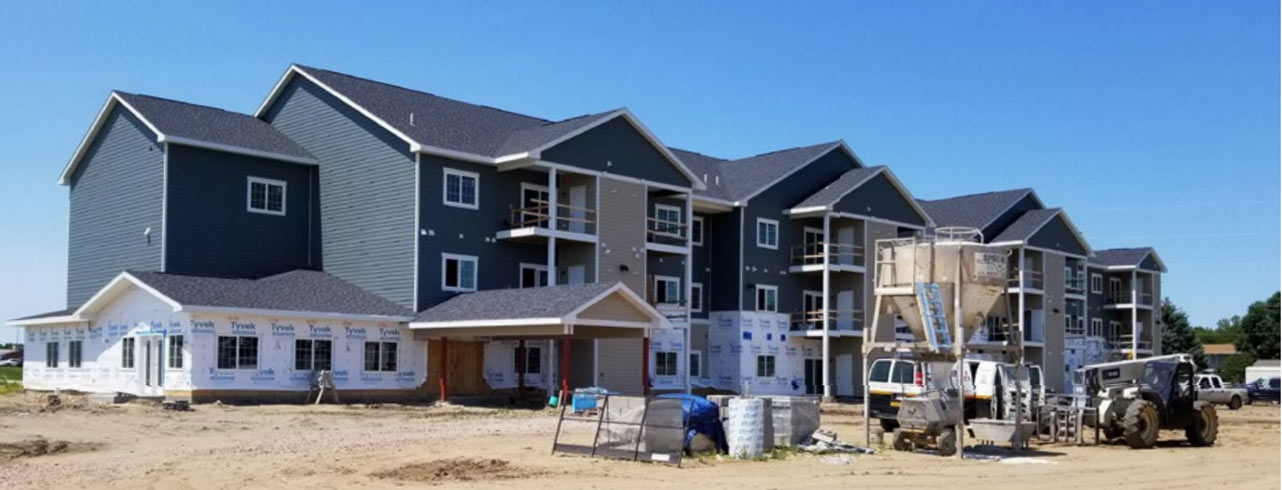 Photo of affordable housing units financed by FNBO