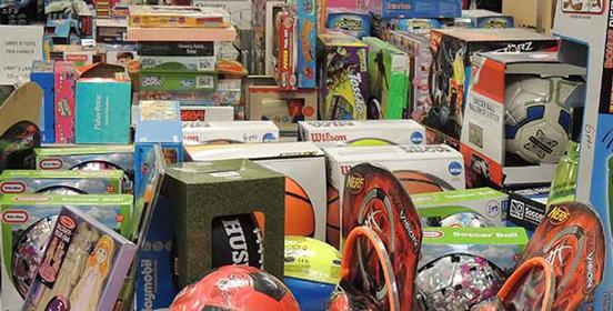 Photo of toys from Star City Stocking Stuffers program