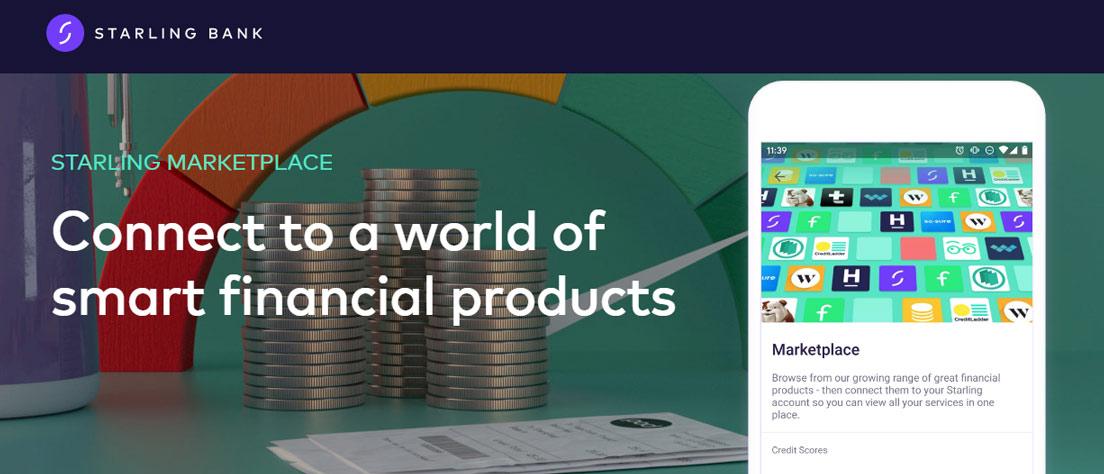 Screenshot of Staling Bank marketplace banner