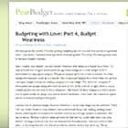 Pear Budget