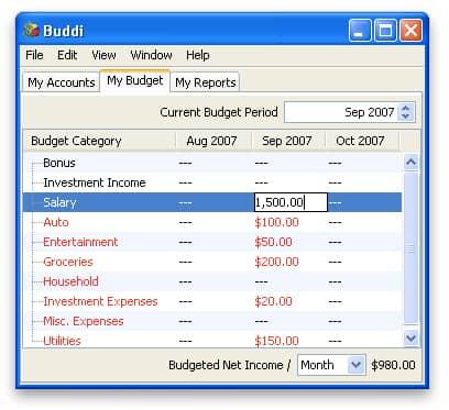 Buddi Screenshot