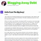 Blogging Away Debt