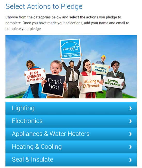 Screenshot of energystar website.