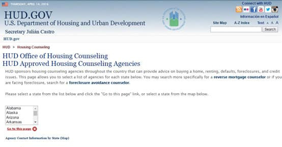 US Housing and Urban Development approved counseling agencies