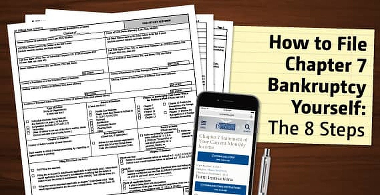 How To File Chapter 7 Bankruptcy Yourself The 8 Steps Badcredit Org