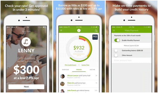 Screenshots of the Lenny iOS App