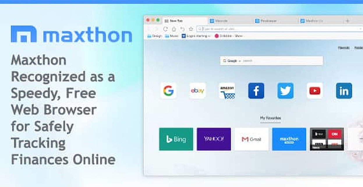 Maxthon Recognized as a Speedy, Free Web Browser for Safely Tracking Finances Online