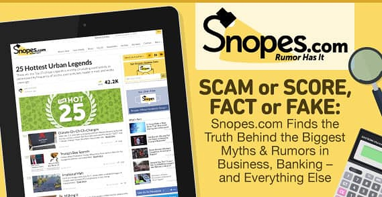 Scam or Score, Fact or Faked: Snopes.com Finds the Truth Behind the Biggest Myths & Rumors in Business, Banking — and Everything Else