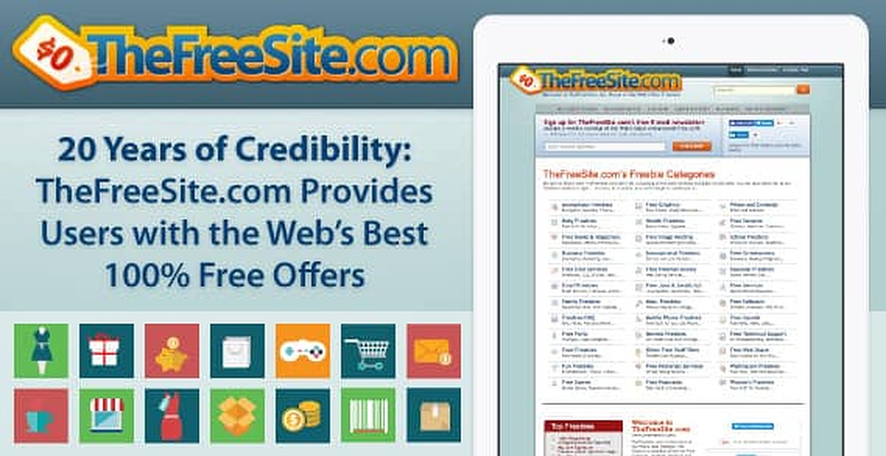 20 Years of Credibility: TheFreeSite.com Provides Users with the Web's Best 100% Free Offers
