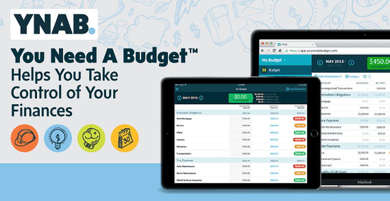 Based on 4 Simple Rules, YNAB™ Software Helps You Take Control of Your Finances