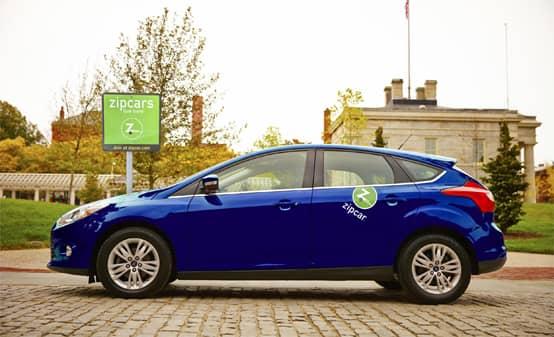 Photo of a Zipcar at a university