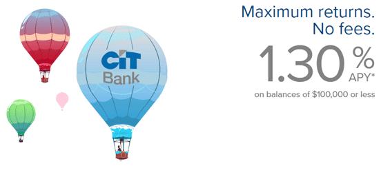 Screenshot of CIT's Premier High Yield Savings Account