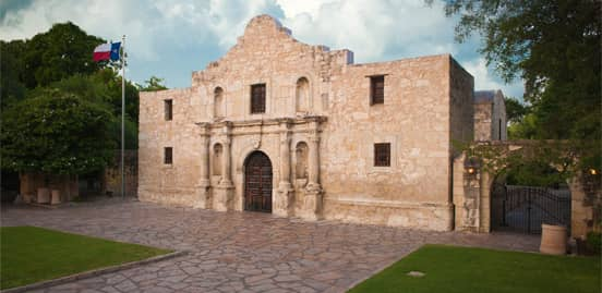 Photo of the Alamo from VisitSanAntonio.com