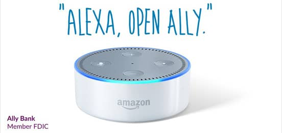 Screenshot of the Ally Skill℠ for Alexa