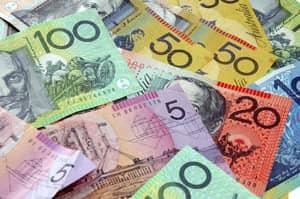Photo of different denominations of Australian Dollars