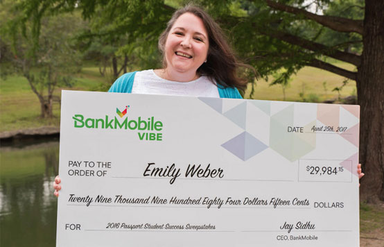 Photo of a Past Student Success Sweepstakes Winner