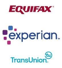 Three credit bureau logos