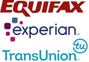 Logos of Three Main Credit Bureaus