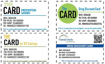 Screenshot of NeedyMeds Discount Drug Card