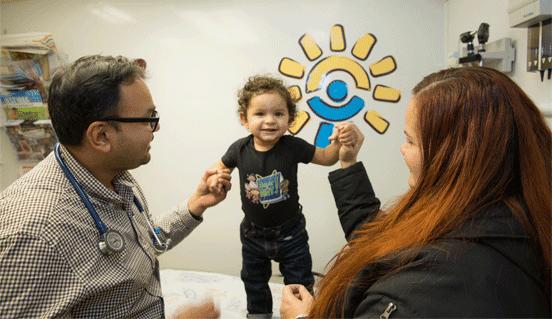 Photo from a Children's Health Fund Health Screening
