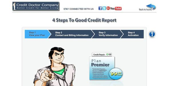 Screenshot of Credit Doctor Company