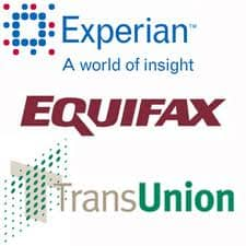 Logos of Three Main Credit Bureaus