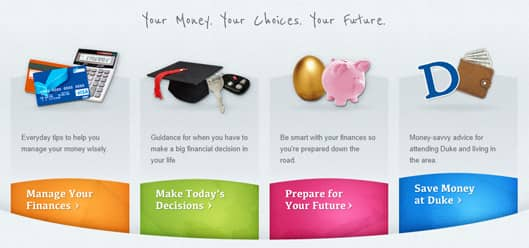 Duke Personal Finance Homepage