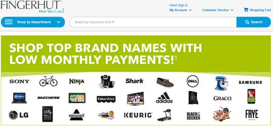Screenshot of Fingerhut Homepage