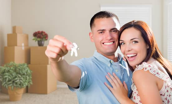 Stock Photo of New Homeowners