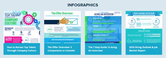 Screenshot of Execu Search Infographics